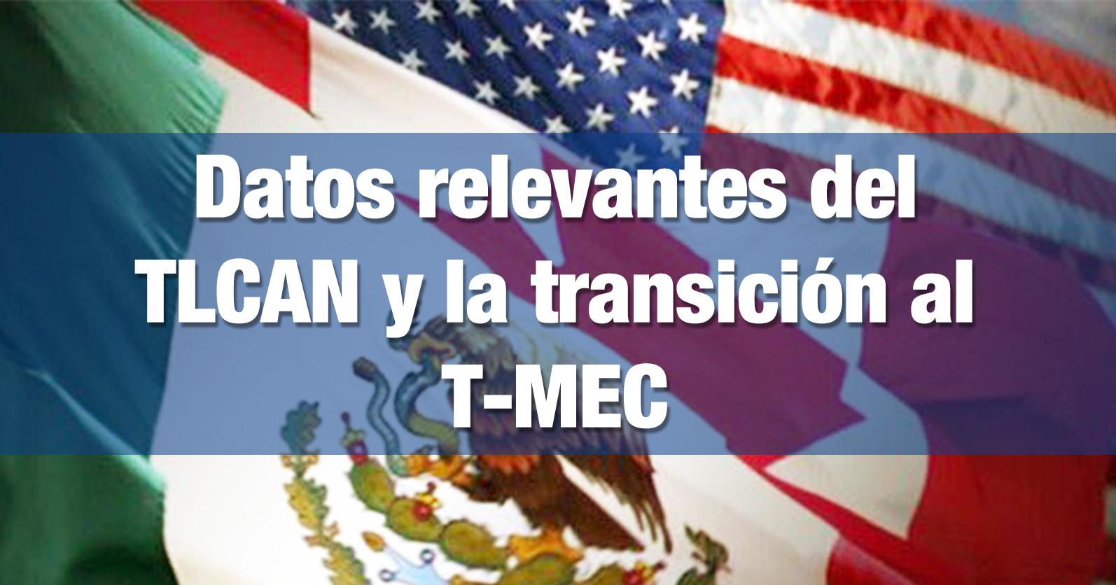 Datos relevantes del TLCAN y la transición al T-MEC