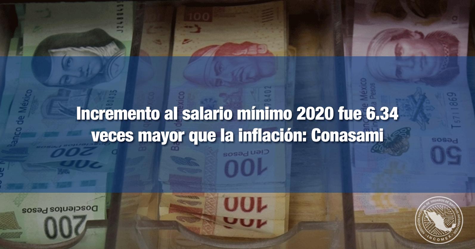 Incremento al salario mínimo 2020 fue 6.34 veces mayor que la inflación: Conasami