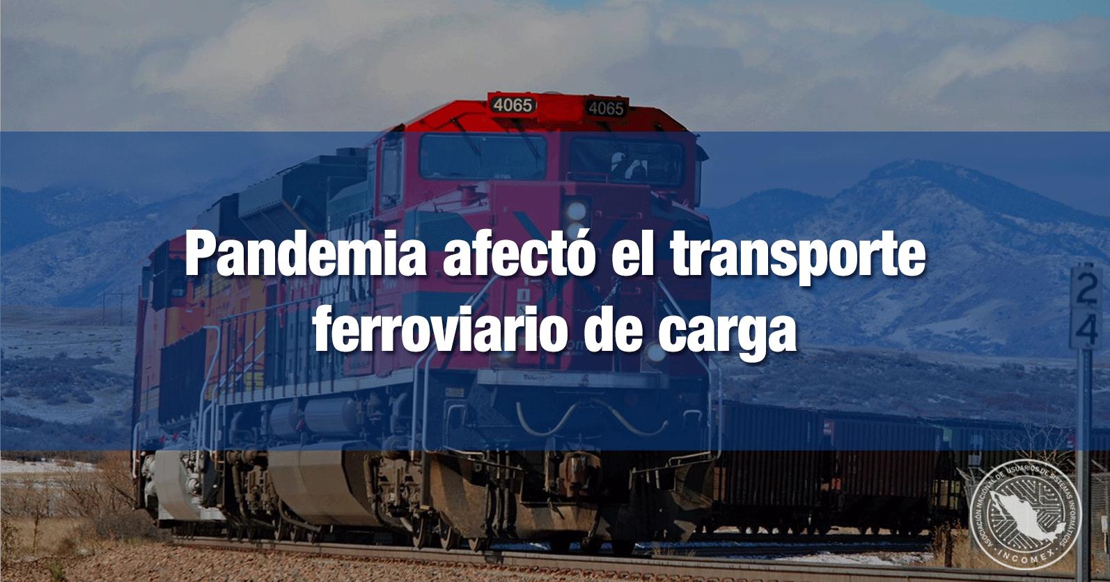 Pandemia afectó el transporte ferroviario de carga