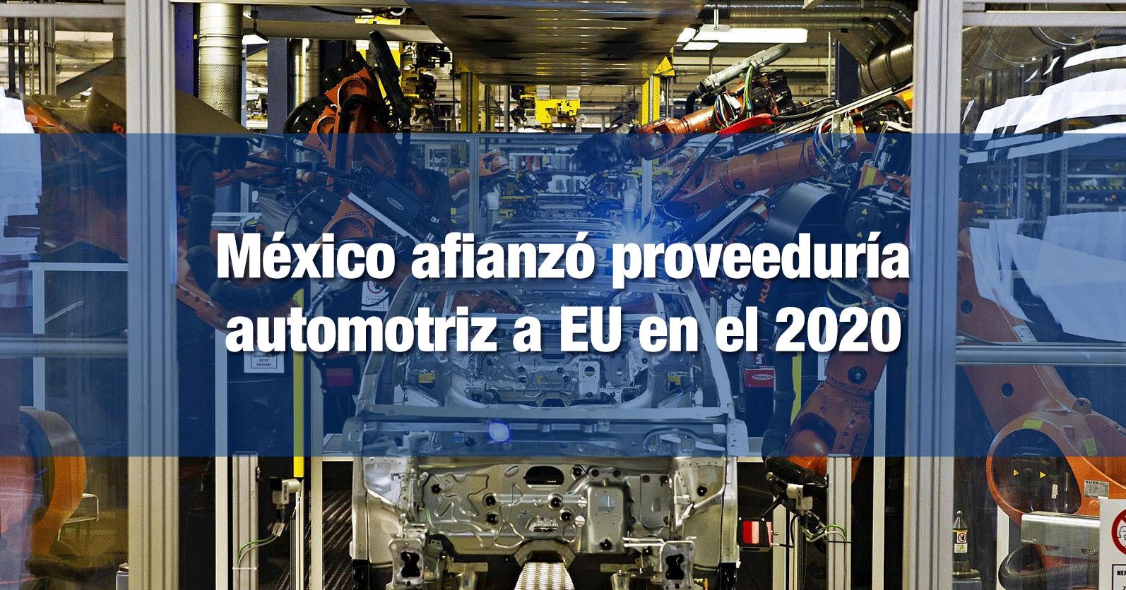 México afianzó proveeduría automotriz a EU en el 2020