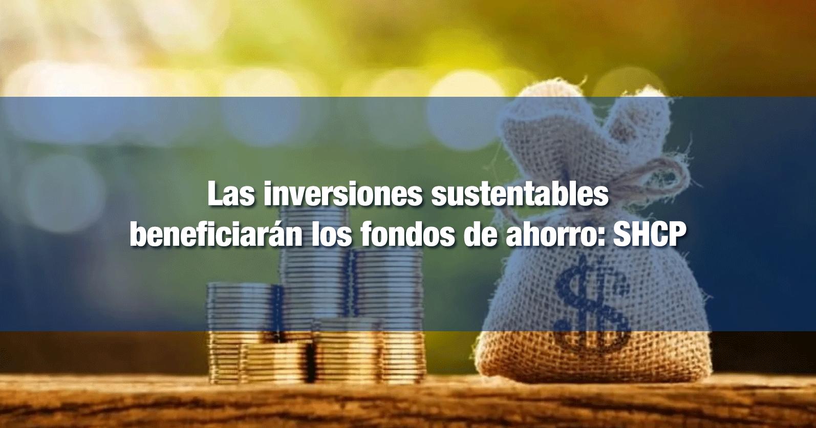 Las inversiones sustentables beneficiarán los fondos de ahorro: SHCP