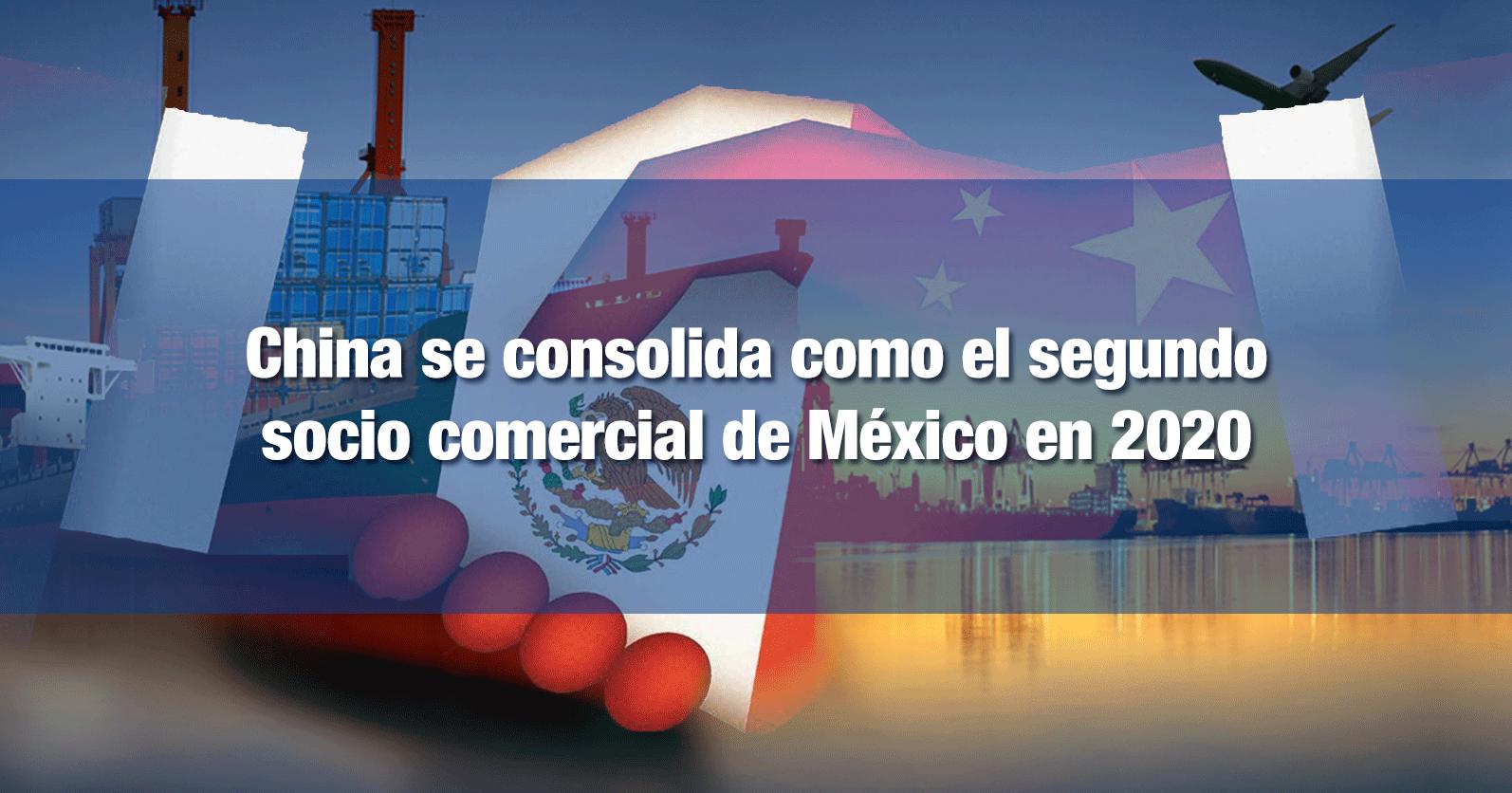 China se consolida como el segundo socio comercial de México en 2020