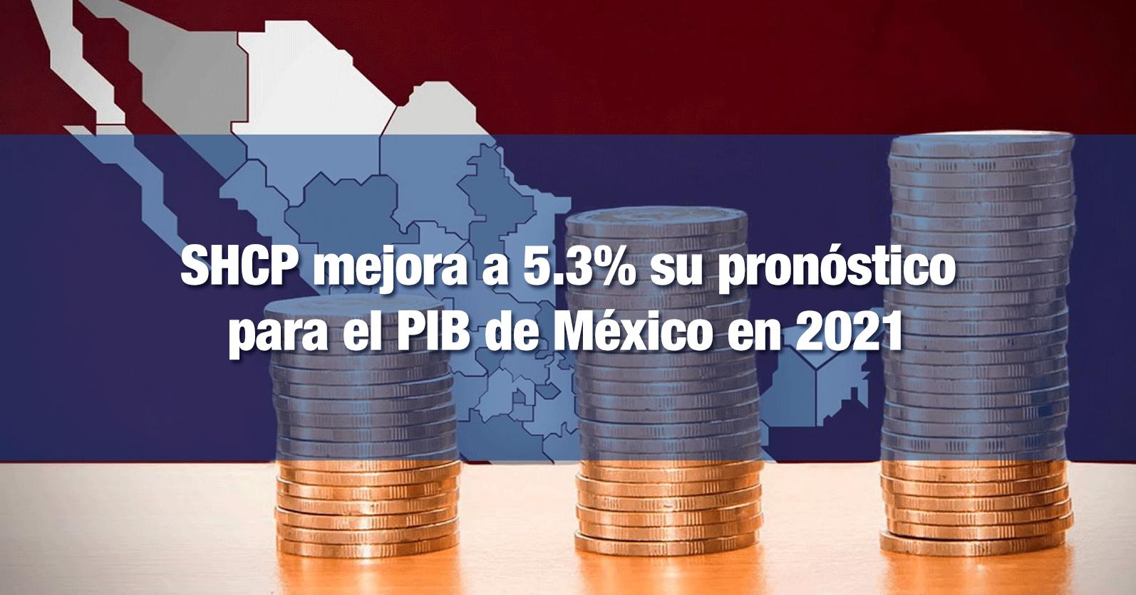 SHCP mejora a 5.3% su pronóstico para el PIB de México en 2021