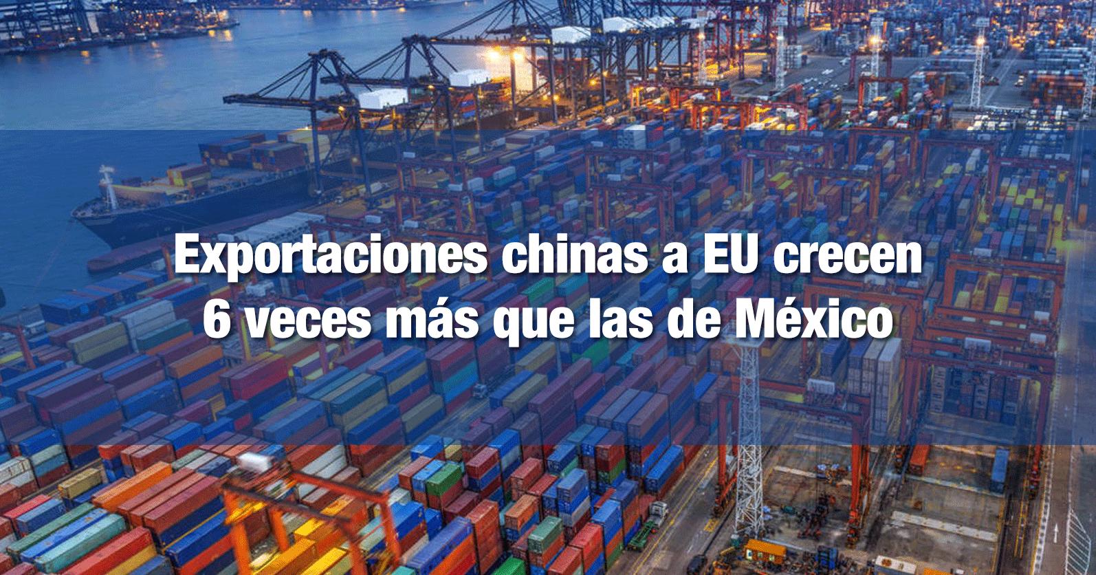 Exportaciones chinas a EU crecen 6 veces más que las de México