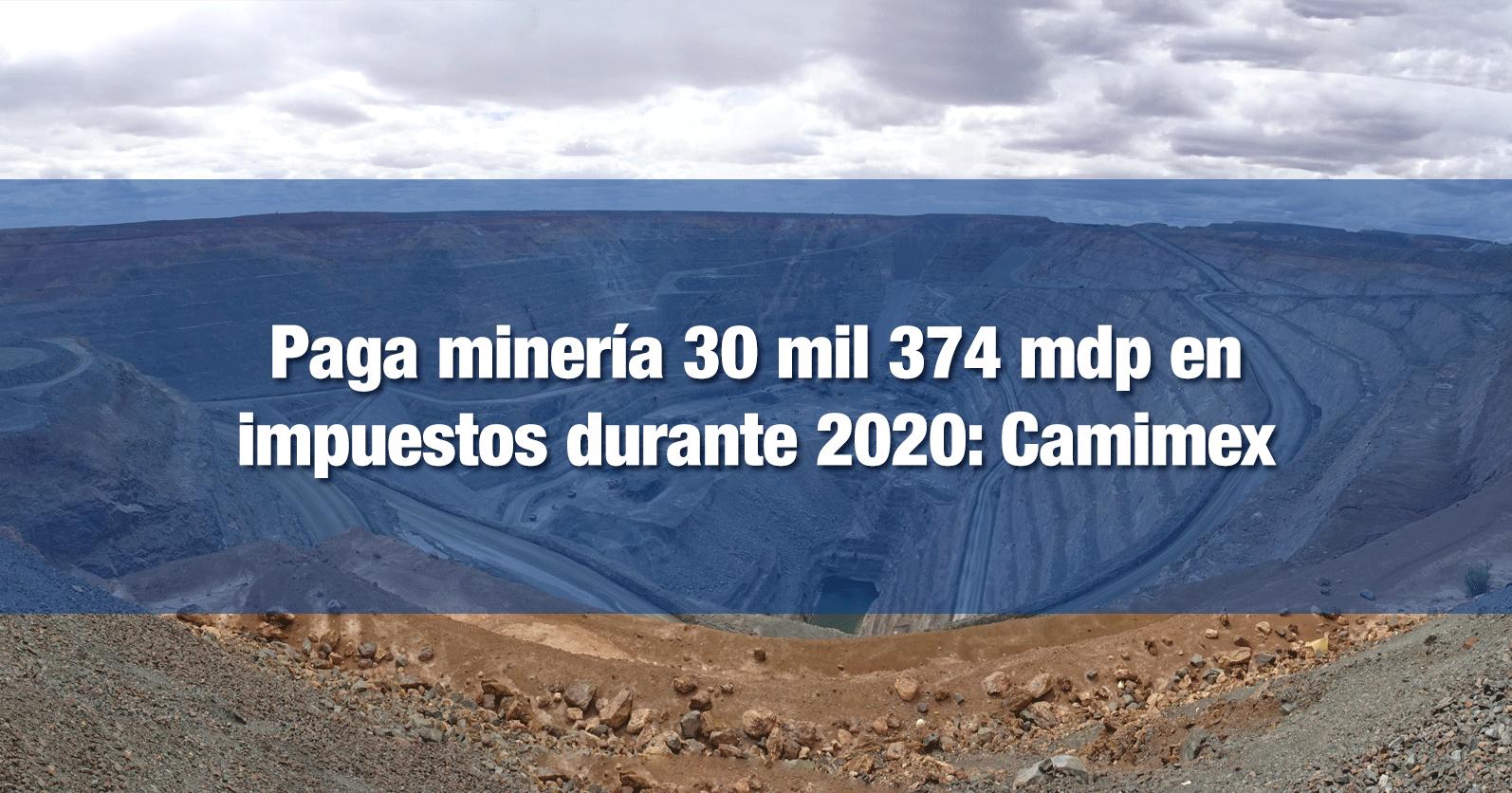 Paga minería 30 mil 374 mdp en impuestos durante 2020: Camimex