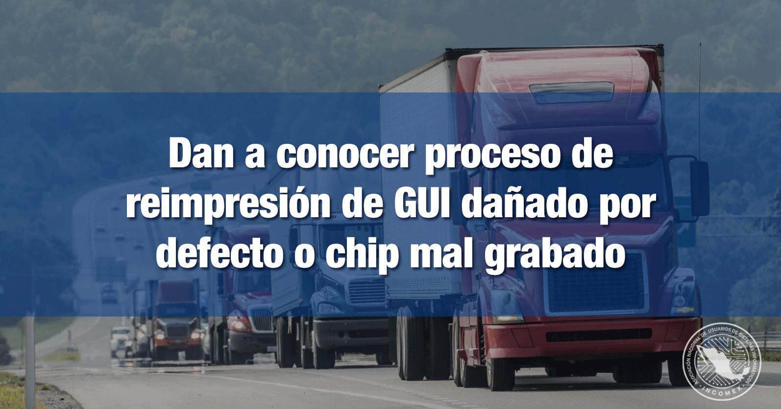 Dan a conocer proceso de reimpresión de GUI dañado por defecto o chip mal grabado