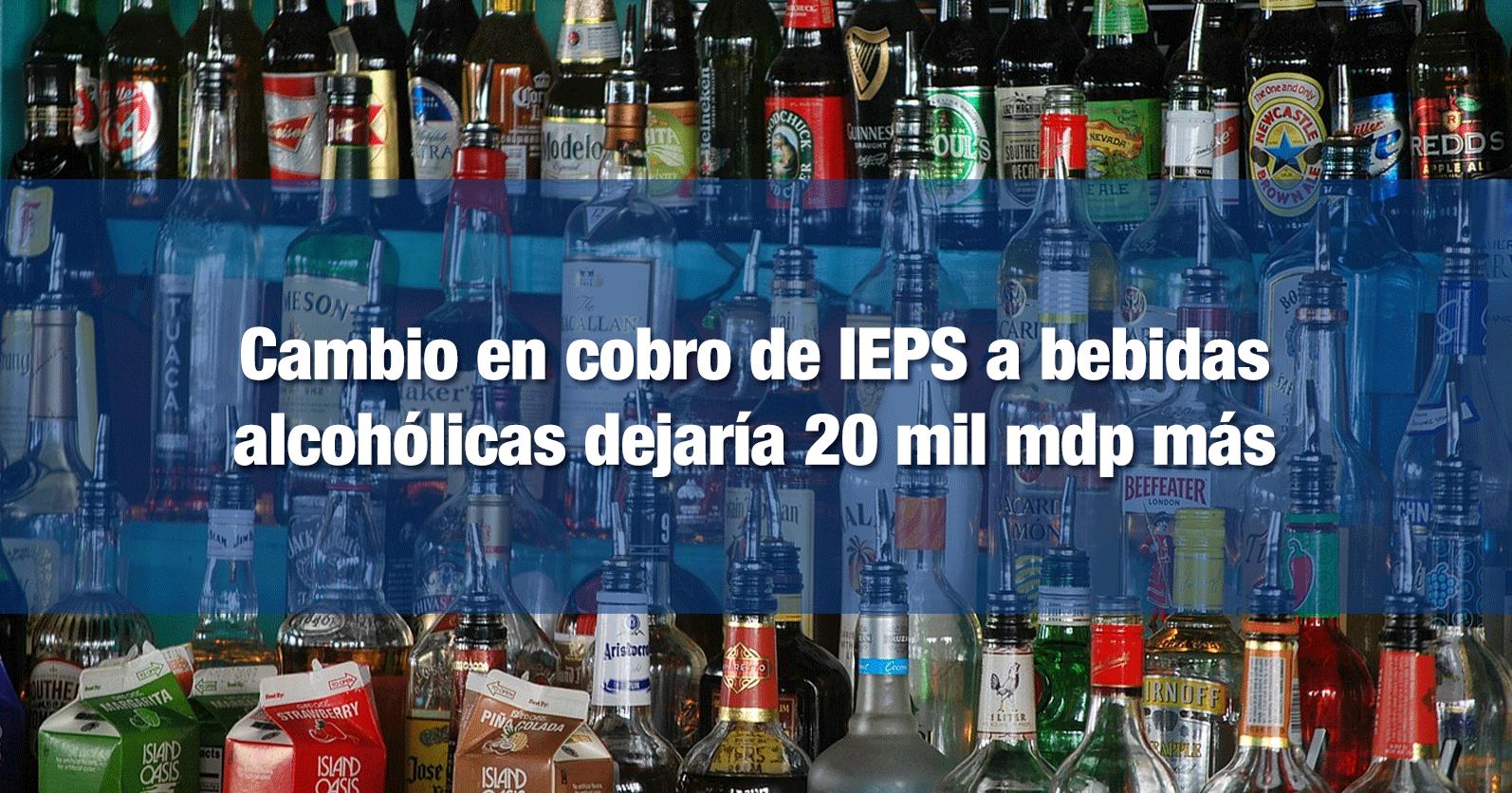 Cambio en cobro de IEPS a bebidas alcohólicas dejaría 20 mil mdp más