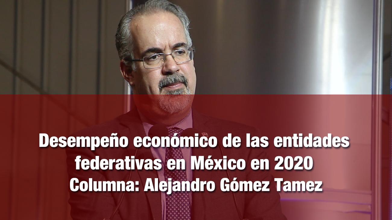 Desempeño económico de las entidades federativas en México en 2020