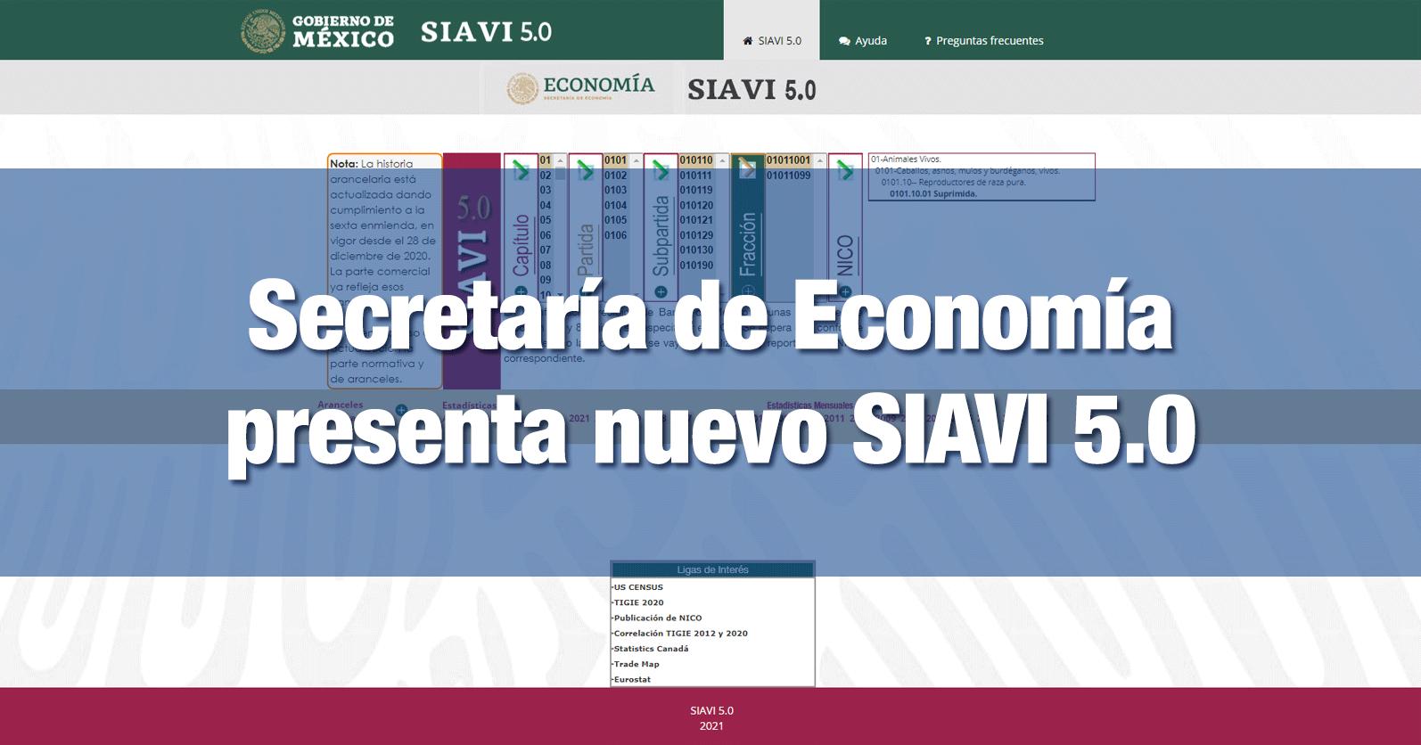 Secretaría de Economía presenta nuevo SIAVI 5.0