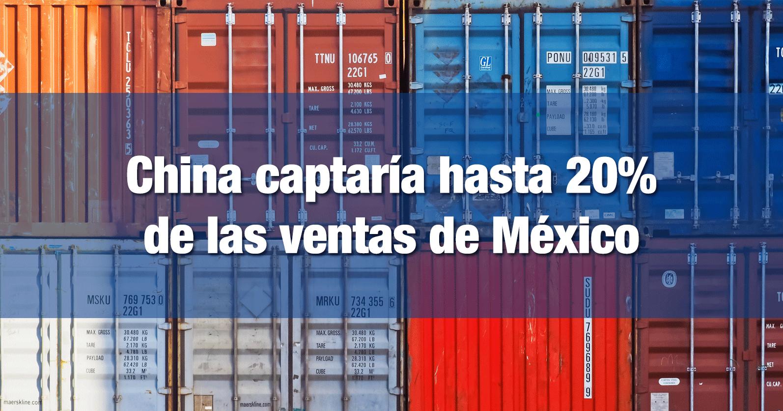 China captaría hasta 20% de las ventas de México