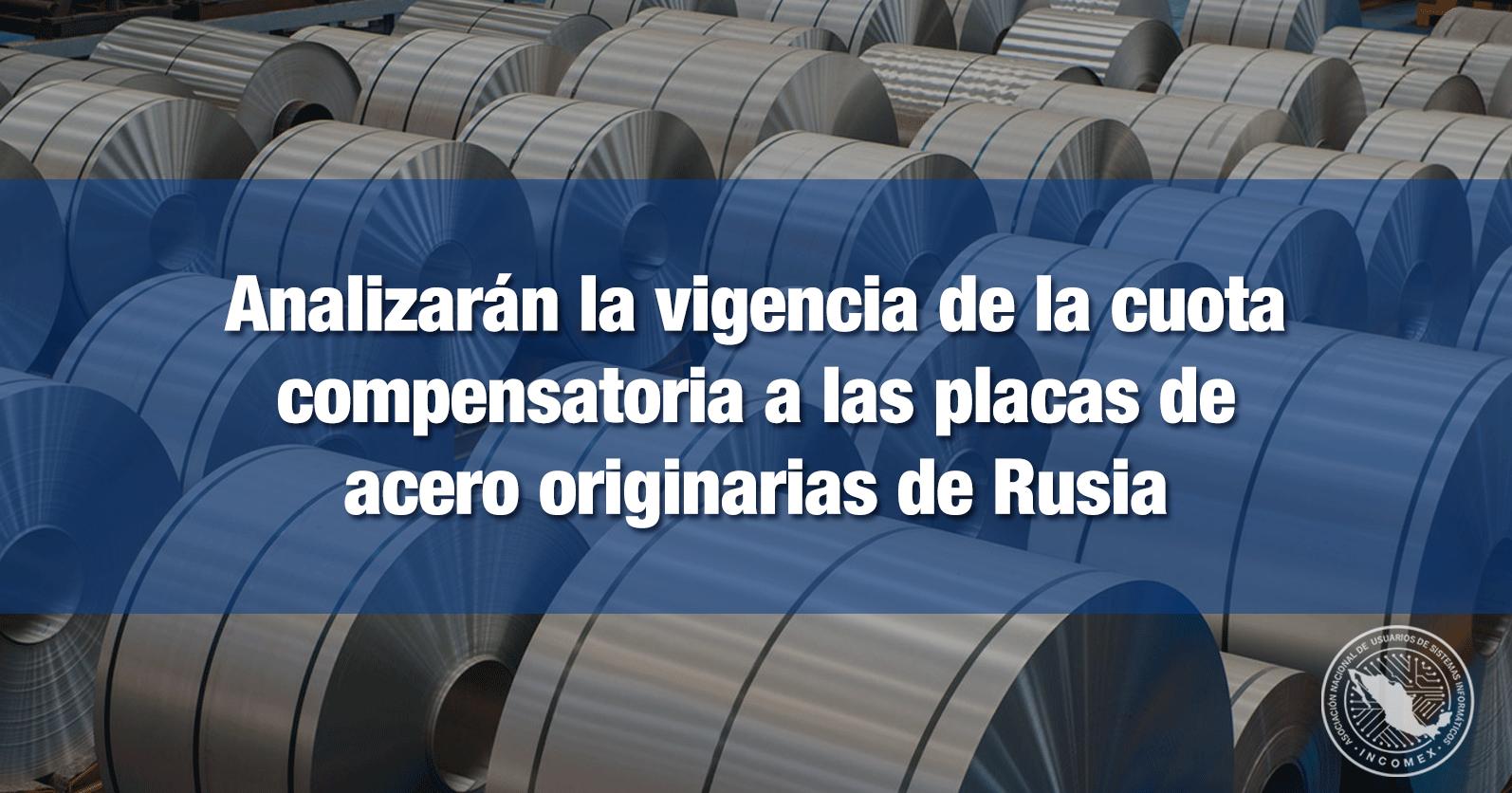 Analizarán la vigencia de la cuota compensatoria a las placas de acero originarias de Rusia