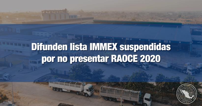 IMMEX suspendidas