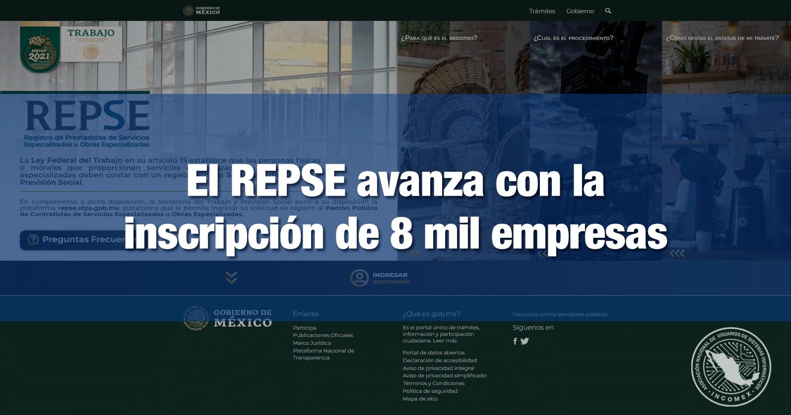 El REPSE avanza con la inscripción de 8 mil empresas