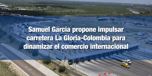 Samuel García propuso un impuesto al comercio exterior para financiar el proyecto