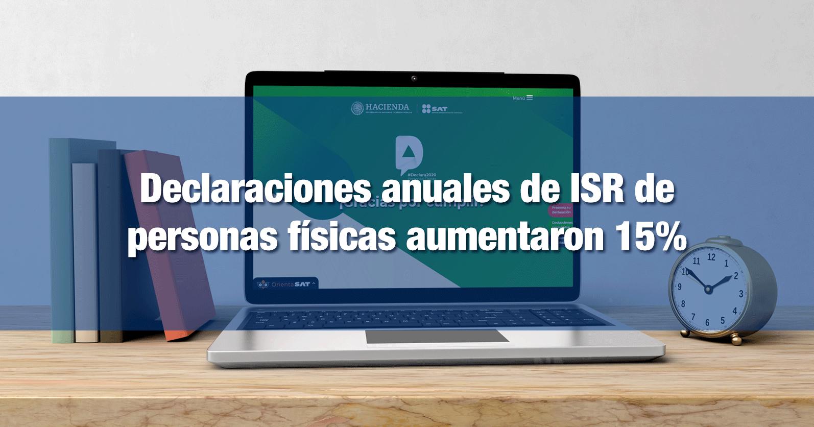 Declaraciones anuales de ISR de personas físicas aumentaron 15%