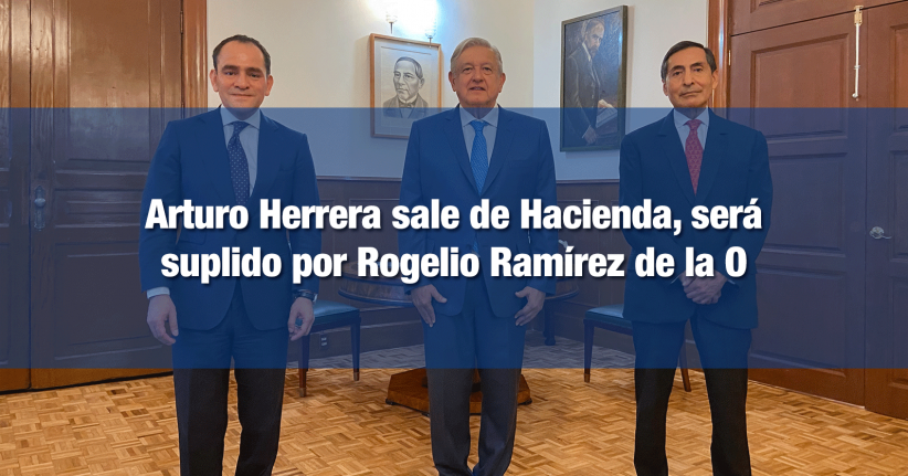 AMLO anuncia la salida de Herrera de la SHCP y la llegada de Ramírez de la O