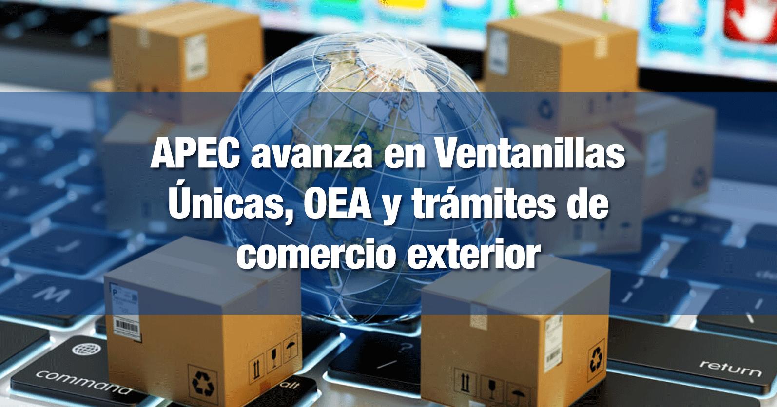 APEC avanza en Ventanillas Únicas, OEA y trámites de comercio exterior