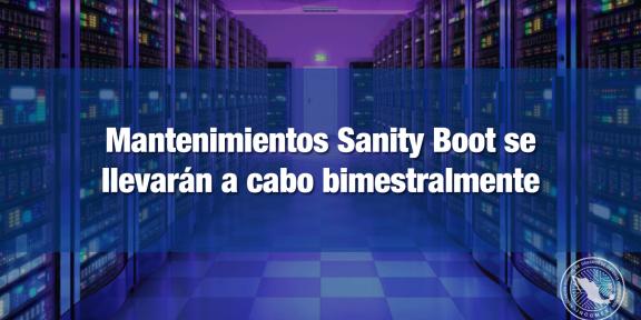 Mantenimiento Sanity Boot