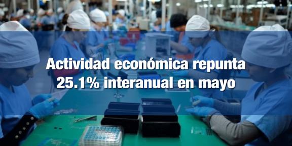 Repunta actividad económica en mayo