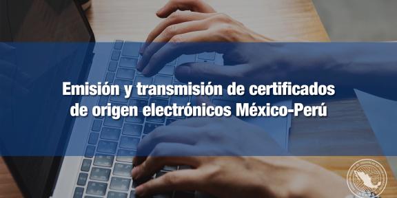 Transmisión electrónica de certificado de origen