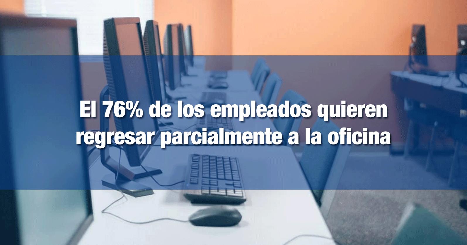 El 76% de los empleados quieren regresar parcialmente a la oficina
