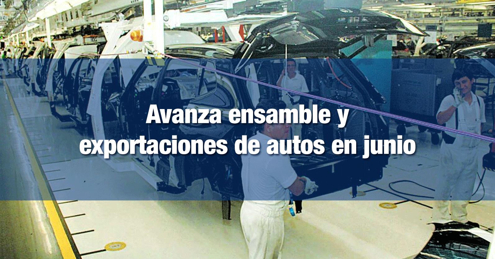 Avanza ensamble y exportaciones de autos en junio