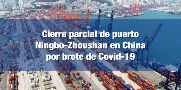 Cierre del tercer puerto de contenedores más importante de China