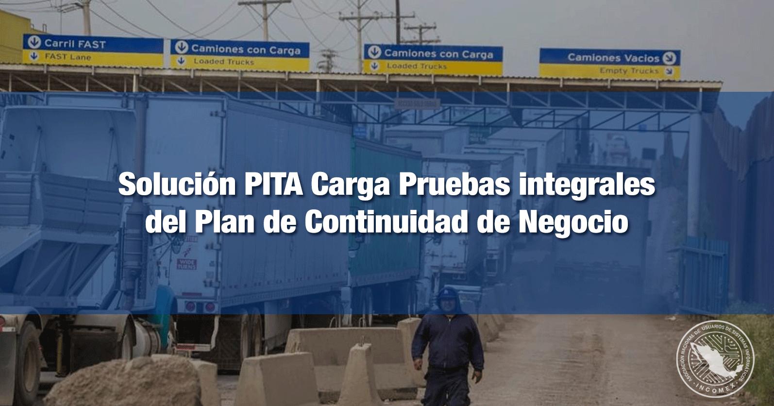 Solución PITA Carga Pruebas integrales del Plan de Continuidad de Negocio