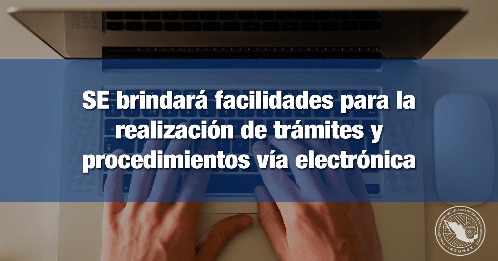 SE brindará facilidades para la realización de trámites y procedimientos vía electrónica