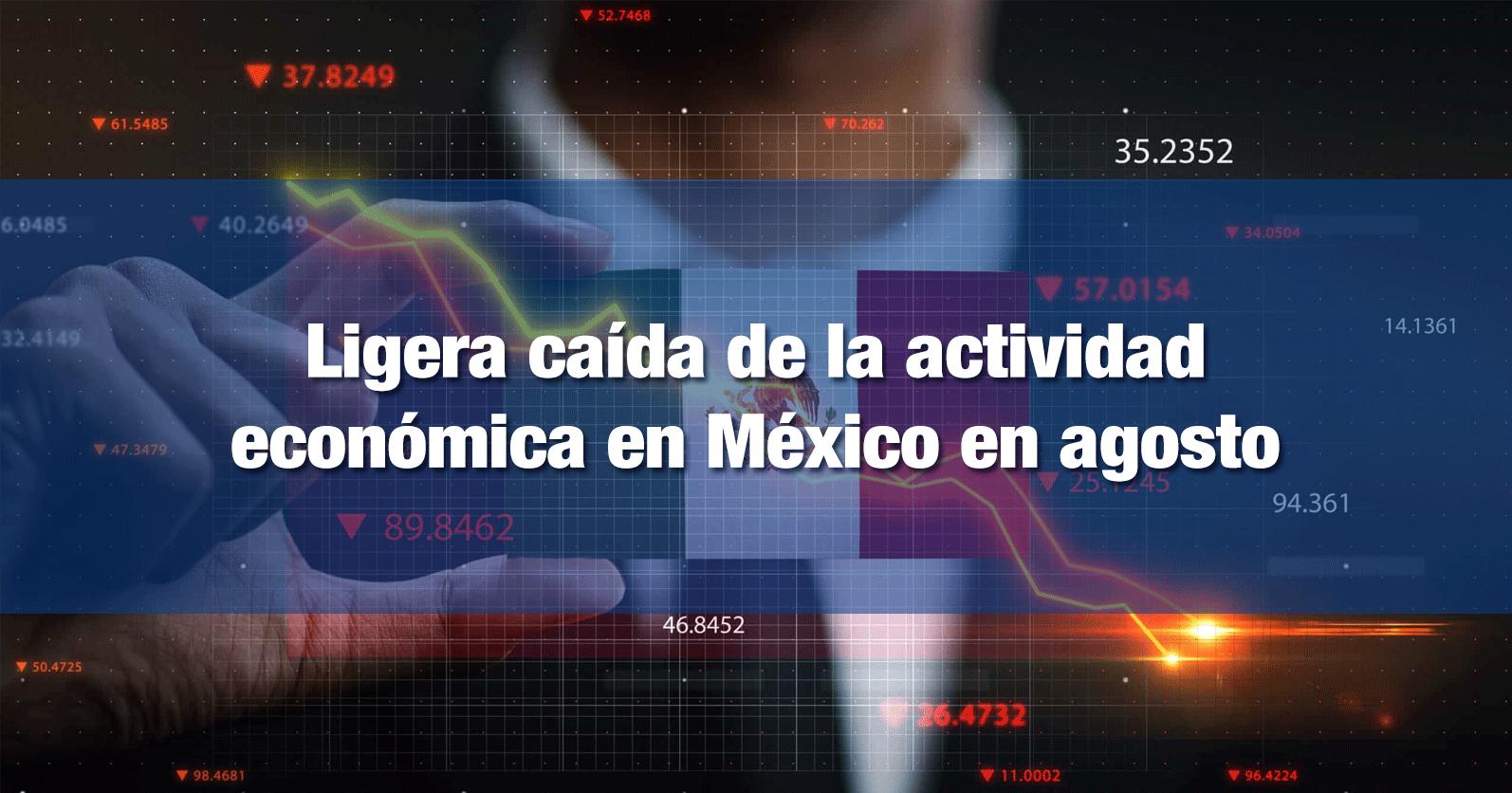Ligera caída de la actividad económica en México en agosto