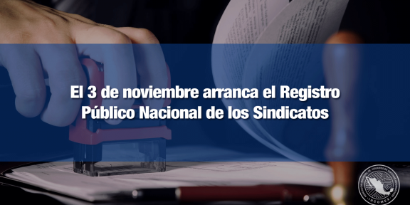 Registro sindical iniciará en todo el país