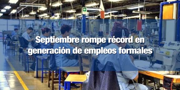 Septiembre registró 8 mil 54 nuevos empleadores