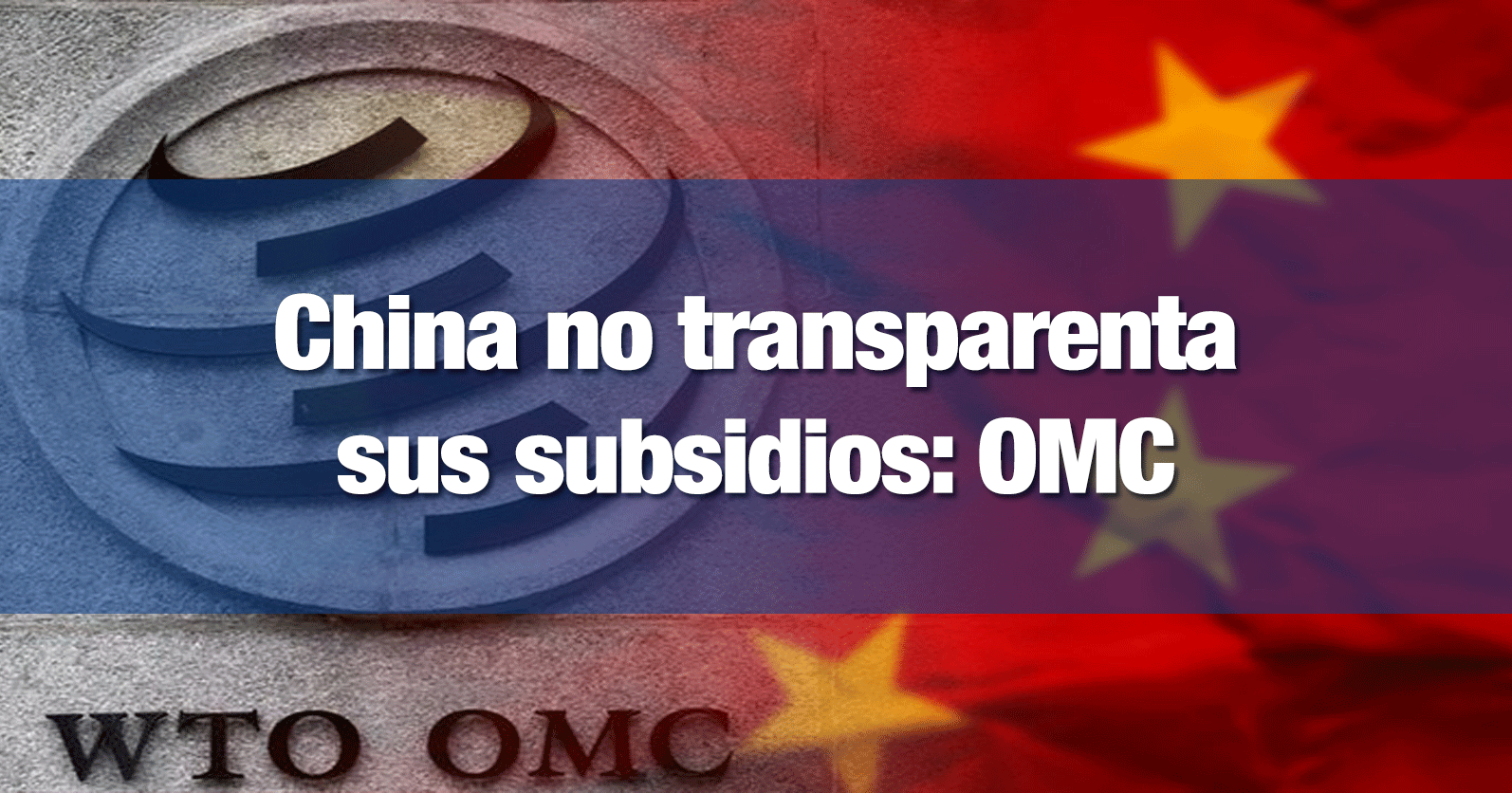 China defiende que no está obligada a dar esa información a la OMC